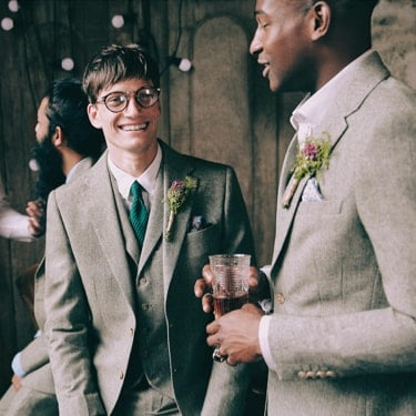 Grooms' looks <br/> for now